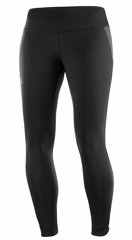 Salomon Agile Warm Women's Running Legging Tights, S Black
