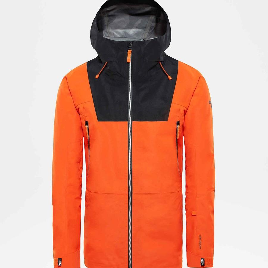 5e5b31ea5 The North Face Ceptor Ski/Snowboard Jacket, L Persian Orange/TNF Black