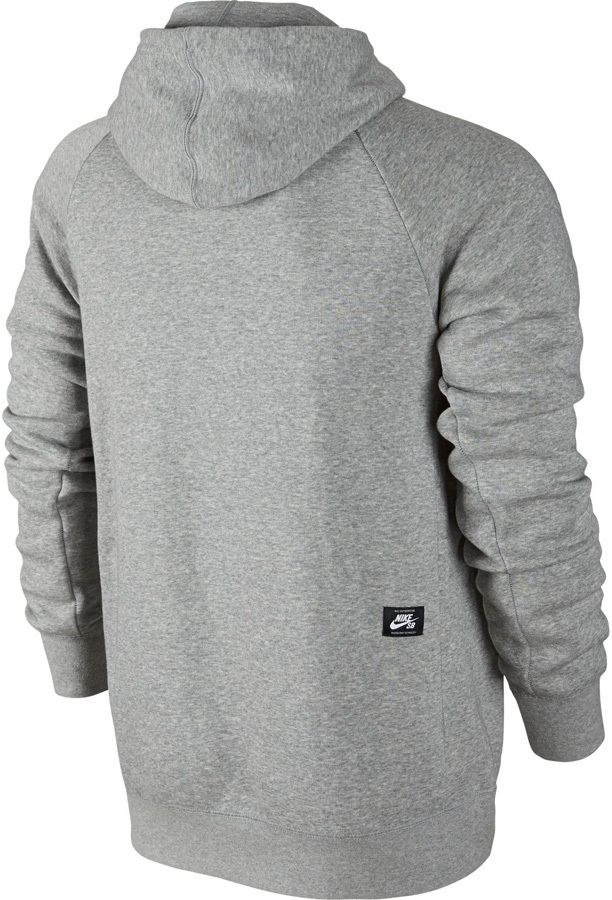 6dfdc42c4 Nike SB Icon Pullover Hoodie, M, Dark Grey Heather/White. Zoom
