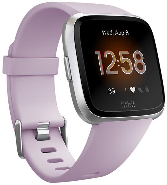 FitBit Versa Lite Heart Rate & Fitness Smartwatch, Lilac/Aluminium