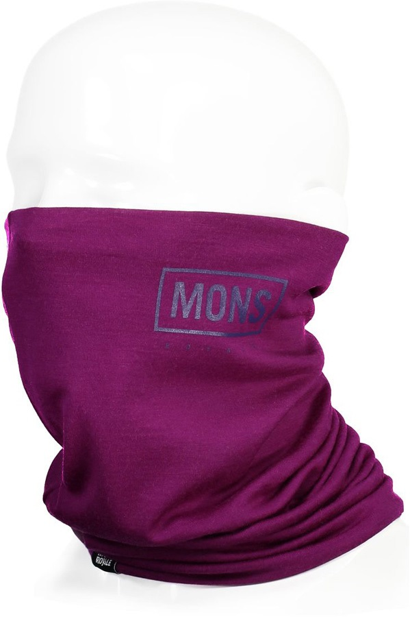 Mons Royale Double Up Merino Wool Neck Warmer Snood, Pinot