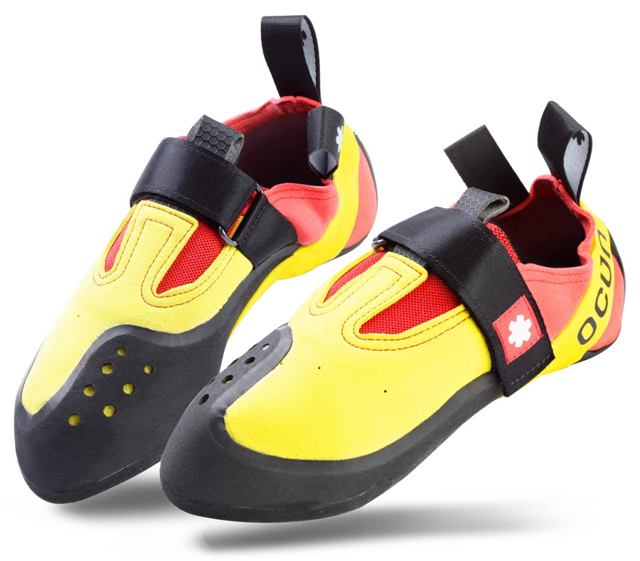 Ocun Rival Kid's Rock Climbing Shoe, UK 2 Yellow/Red