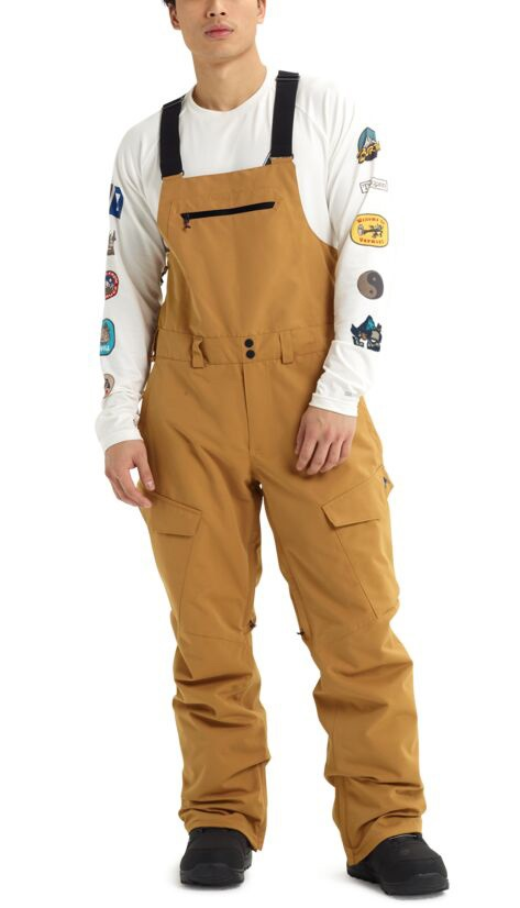 Burton Reserve Bib Ski/Snowboard Pants Trousers, S Wood Thrush