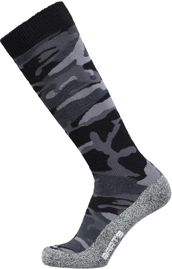 Barts Skisock Camo Ski/Snowboard Socks UK 2-5 Black