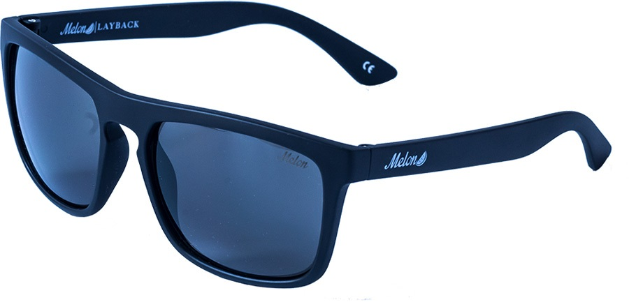 Melon Layback 2.0 Smoke Polarized Sunglasses, Blackout