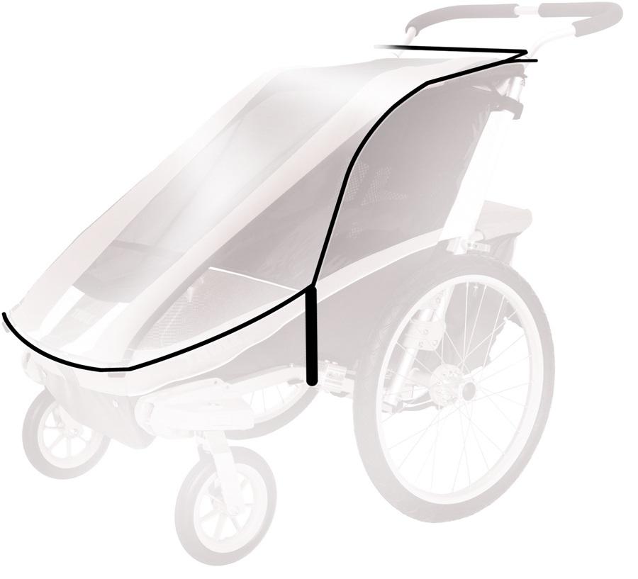 Thule Rain Cover Child Carrier Accessory Cougar 1 / CX 1