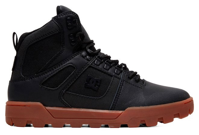 DC Pure High-Top WR Men's Winter Boots, UK 7 Black/Gum