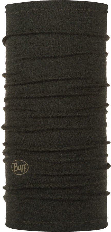 Buff Midweight Merino Wool Neck Tube One Size Forest Night Melange