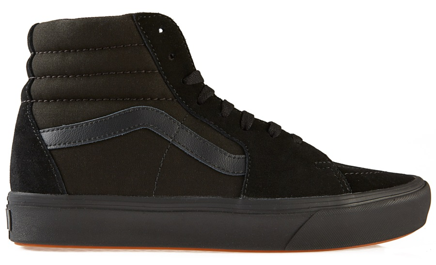 Vans ComfyCush Sk8-Hi Skate Shoe, UK 7 Black/Black