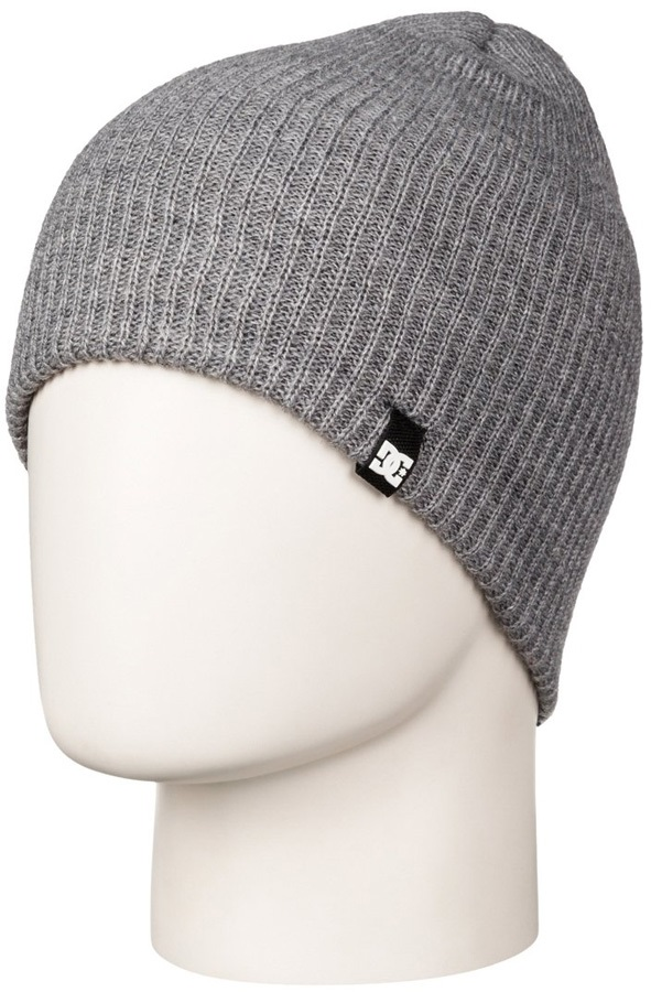 DC Clap Ski/Snowboard Beanie Hat, One Size Heather Grey