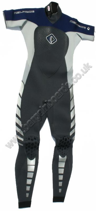 NPX SS Steamer 3 / 2 Wetsuit Small Tall Euro 94 Grey Blue