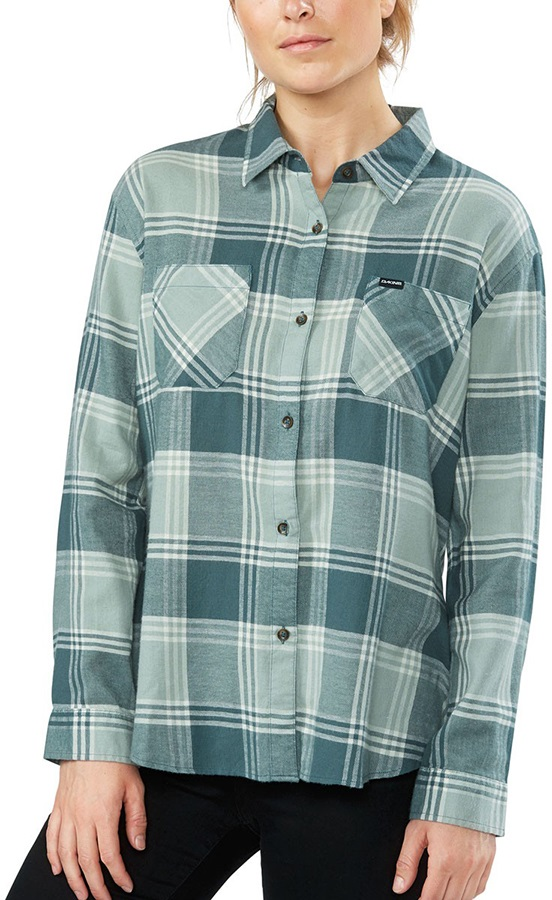 Womens Traditional Short Sleeve Cotton Flannel Top by Como Black