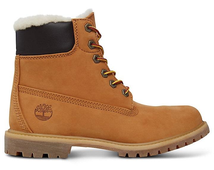 Timberland Womens 6,in Premium Shearling Winter Boots, UK 5 Wheat