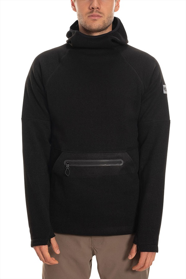 686 Knit Tech Fleece Hoody, M Black Heather