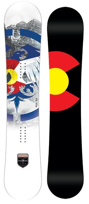 Never Summer Heritage Rocker Camber Snowboard, 158cm 2019
