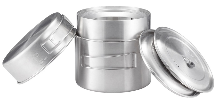 Solo Stove 2-Pot Set Lightweight Camping Cookware, 1.5/3L Steel