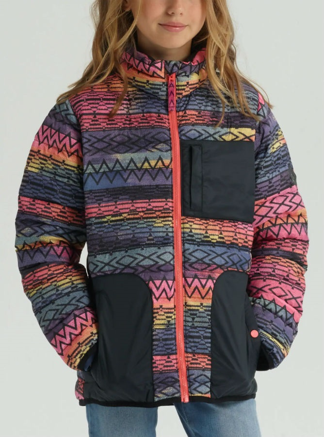 f693bfdf4 Burton Girls Evergreen Down Jacket, M Technicat Dream/True Black