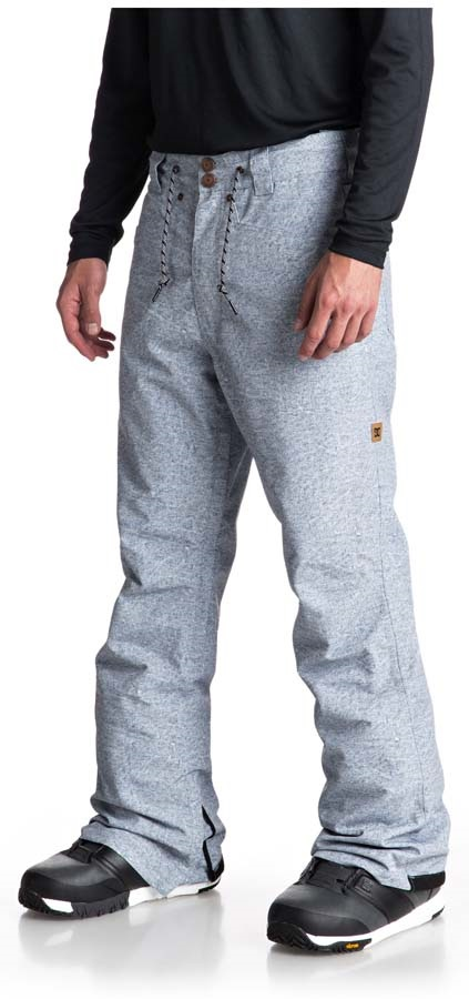 DC Relay Ski/Snowboard Pants, S Light Blue Denim