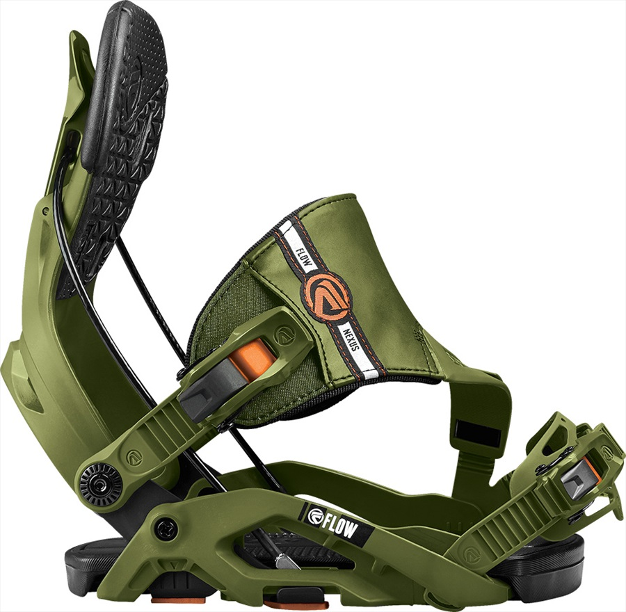 Flow Nexus Step In Snowboard Bindings, L, Green, Hybrid, 2017