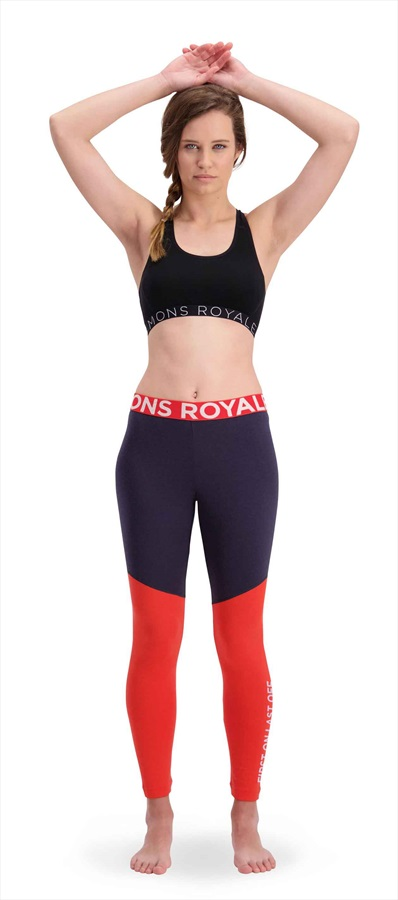 Mons Royale Christy Women's Merino Wool Leggings S 9 Iron/ Poppy