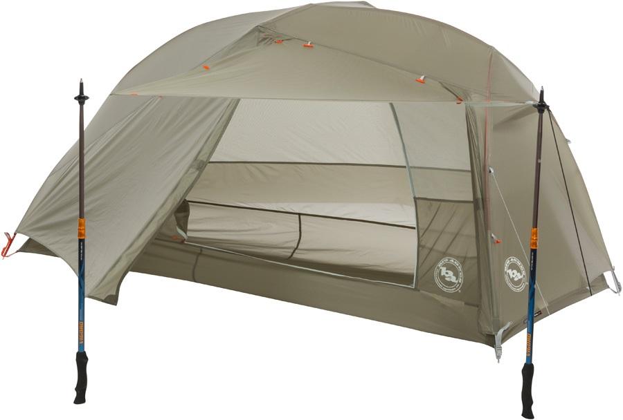 Big Agnes Copper Spur HV UL1 Ultralight Backpacking Tent, 1 Man Olive