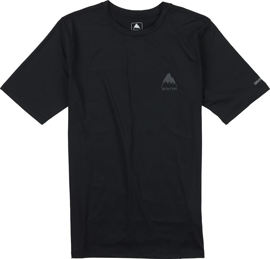 Burton Lightweight Tee Baselayer Shirt S True Black