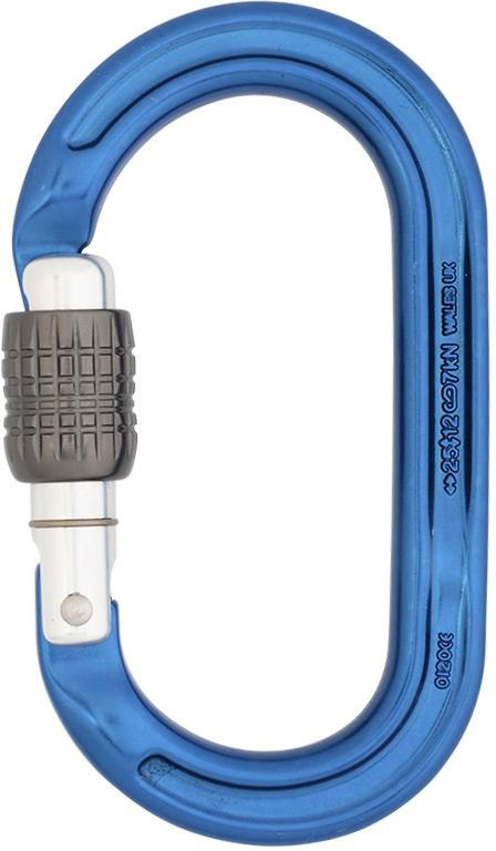 DMM Ultra O Oval Rock Climbing Carabiner Blue Screwgate