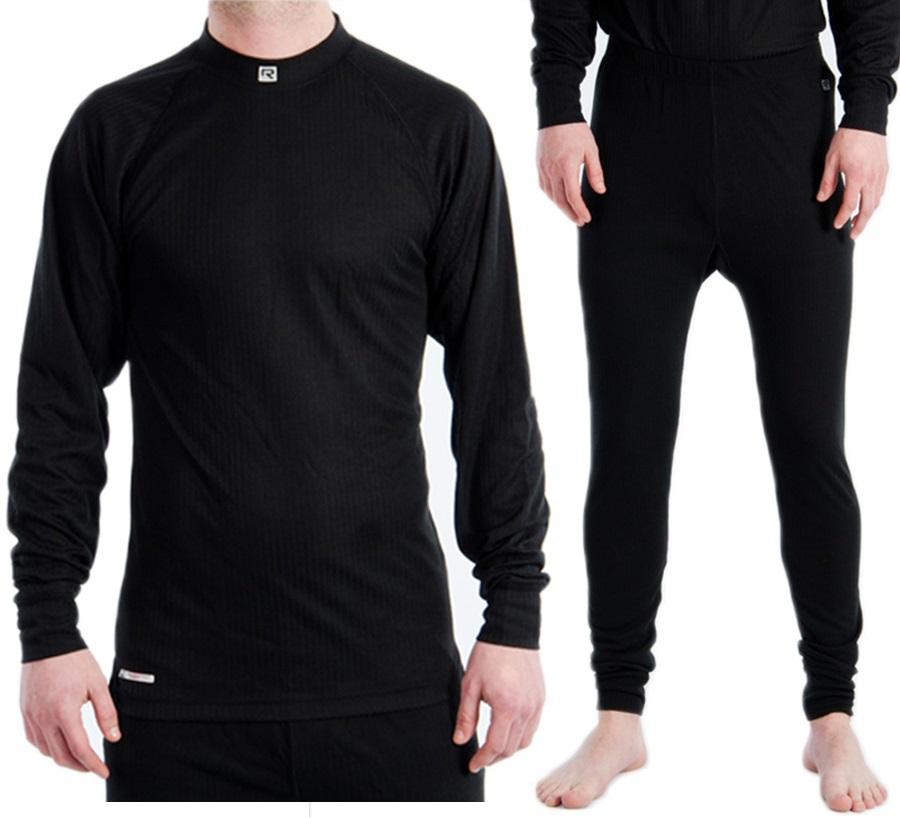 Rucanor Montana Thermal Underwear Set, Men's S | Wms 12, Black
