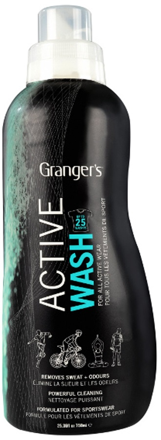 Grangers Active Wash Technical Clothing Cleaner, 750ML Black/Blue