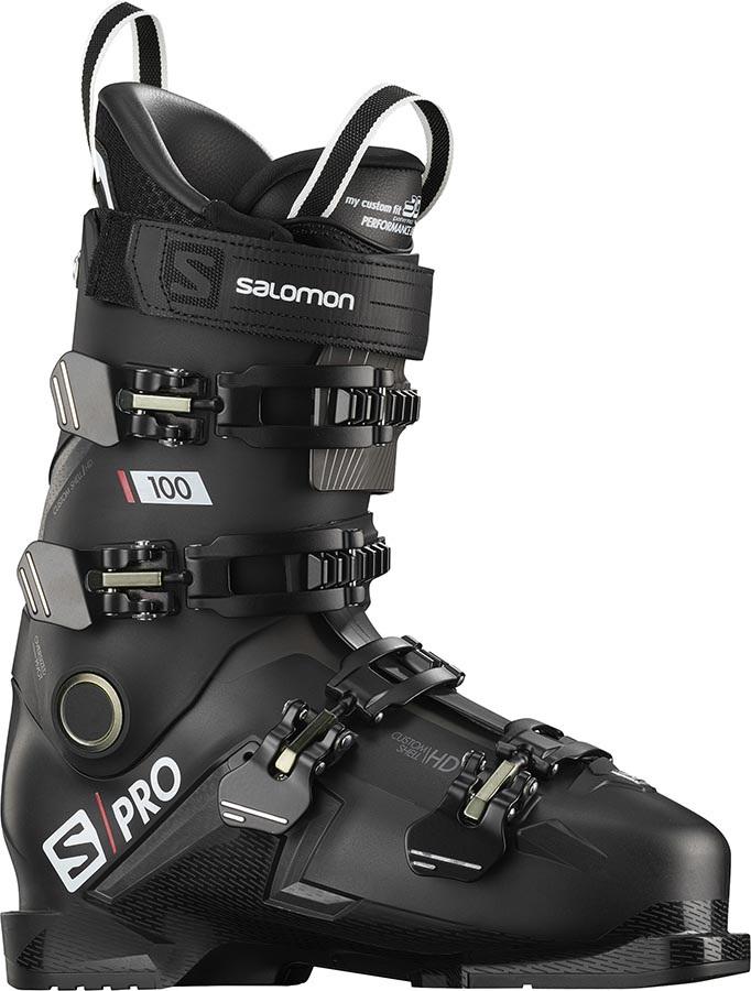 Salomon S/PRO 100 Ski Boots, 26/26.5 Black/Belluga/Red 2020