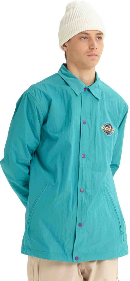 Analog Sparkwave Coaches Ski/Snowboard Jacket, M Green-Blue Slate