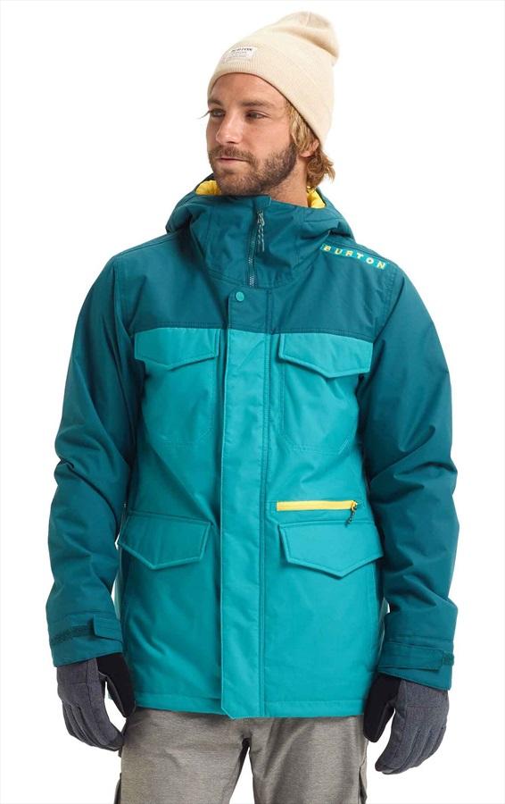 Burton Covert Ski/Snowboard Jacket, M Green Blue Slate/Deep Teal