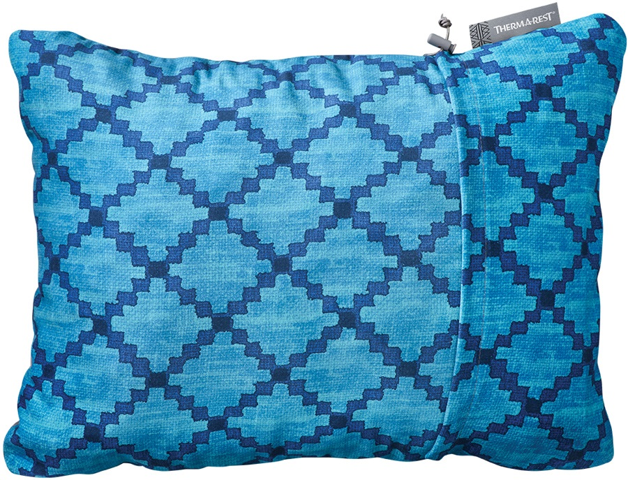 ThermaRest Compressible Travel Pillow Camping Pillow, M Blue Heather