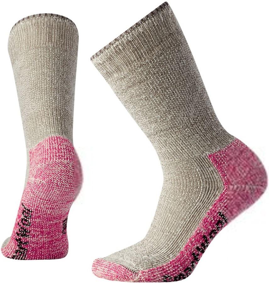 Smartwool Mountaineering Extra Heavy Crew Hiking Socks, 2-4.5 Pink
