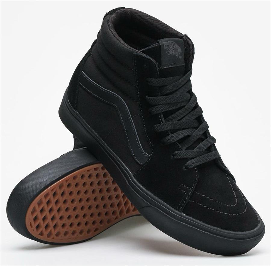 ce506d09268e0 Vans ComfyCush Sk8-Hi Skate Shoe, UK 7.5 Black/Black