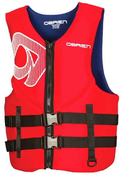 O'Brien Traditional Neo Ski Impact Vest Buoyancy Aid, 3XL Red Blue