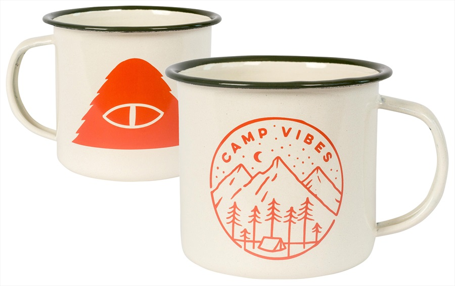 Poler Slumber Enamel Mug Camping Mug, One Size, Off White