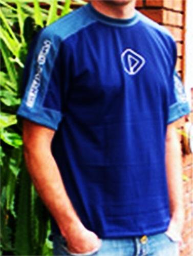 NeilPryde Kids Short Sleeve Hydrotex Rash Shirt, 8, Blue Grey