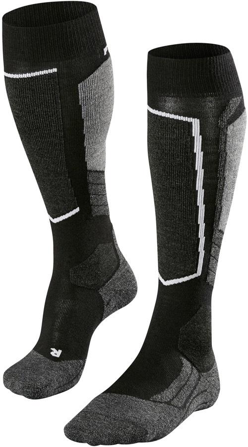 Falke SK2 Merino Wool Women's Ski Socks, UK 5.5-6.5 Black-Mix