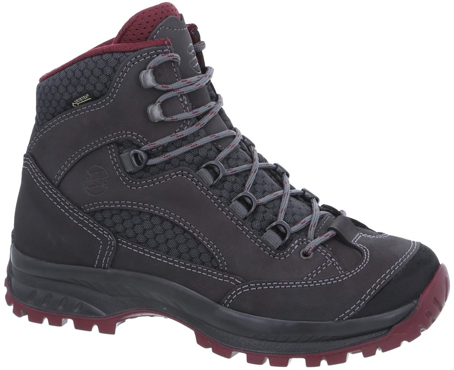 Hanwag Banks II GTX Women's Hiking Boots, UK 6 Asphalt/Dark Garnet