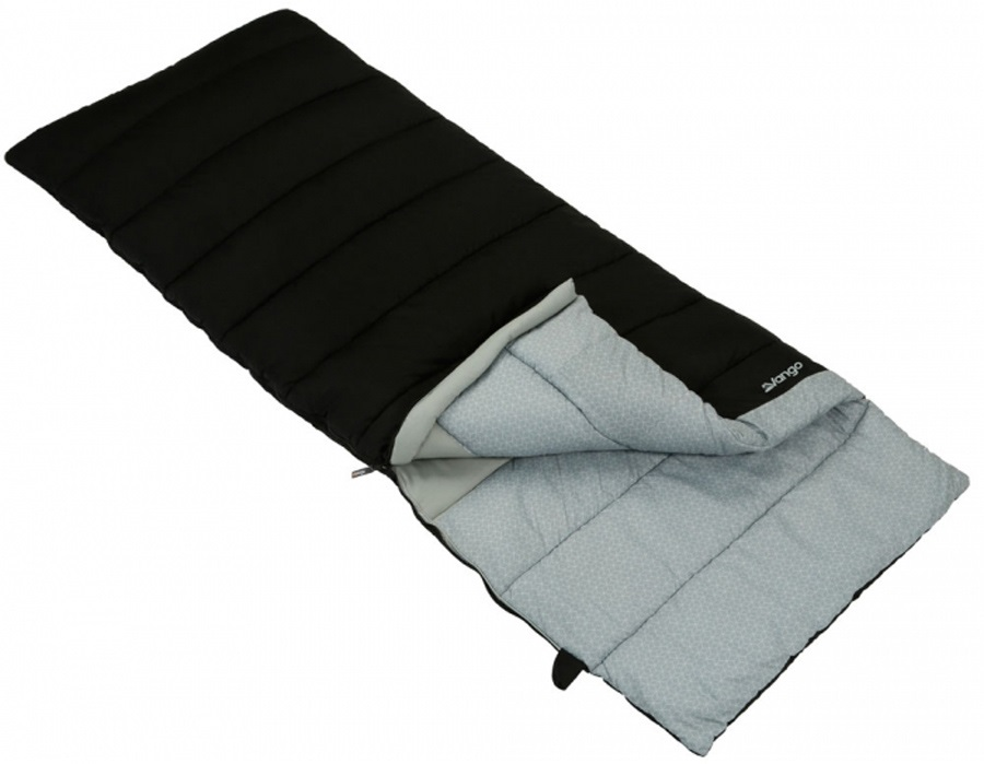 Vango Harmony Single Camping Sleeping Bag, 190cm Black