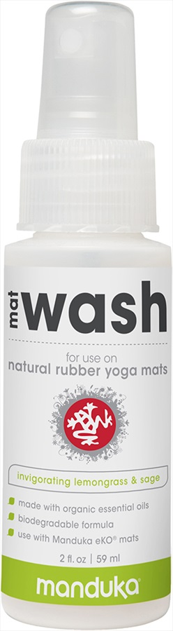 Manduka Natural Rubber Yoga Mat Wash Spray, 2oz Lemongrass