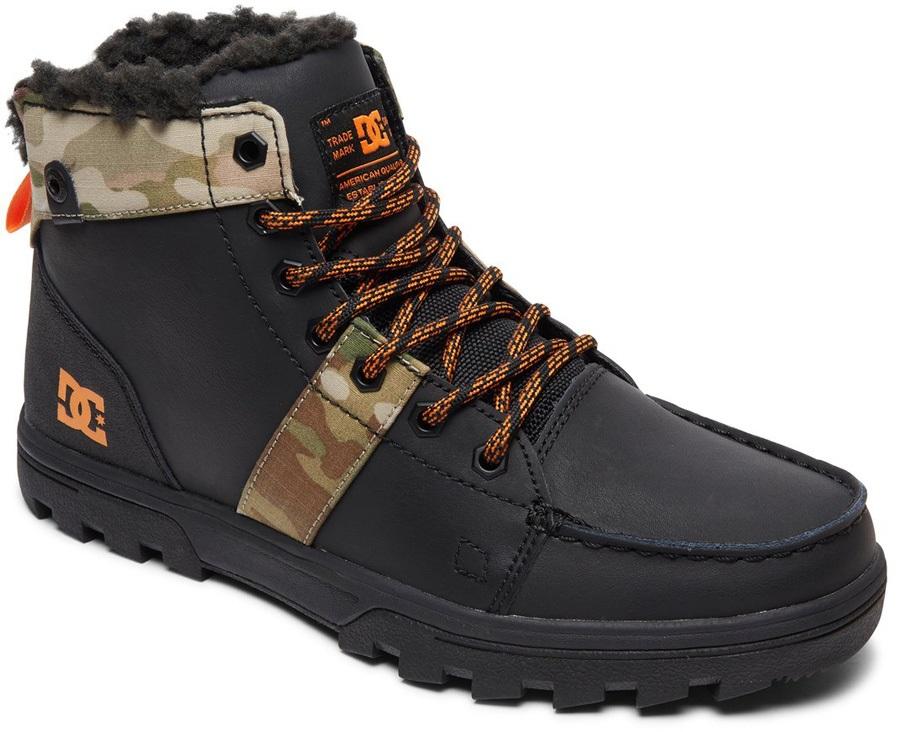 DC Woodland Men's Winter Boots, UK 9.5 Black/Multi
