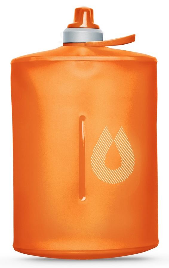HydraPak Stow Bottle Collapsible Drinks Bottle, 1L Mojave Orange