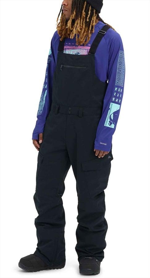 Burton Reserve Bib Ski/Snowboard Pants, L True Black 2020