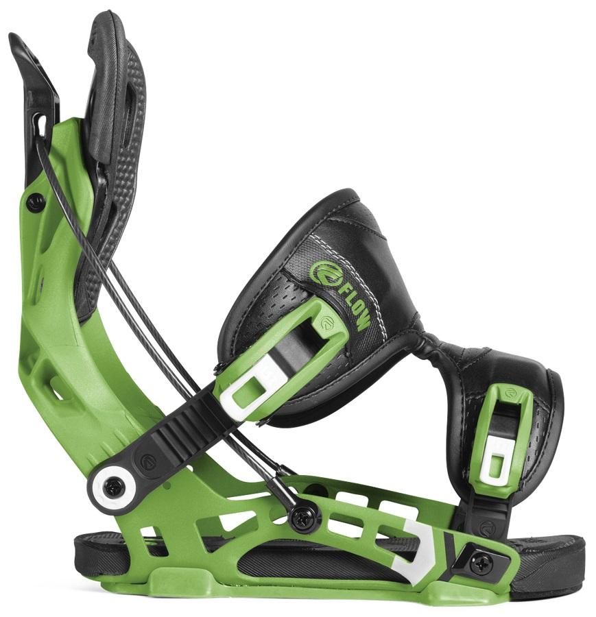 Flow NX2 Fusion Step In Snowboard Bindings, M Green 2019