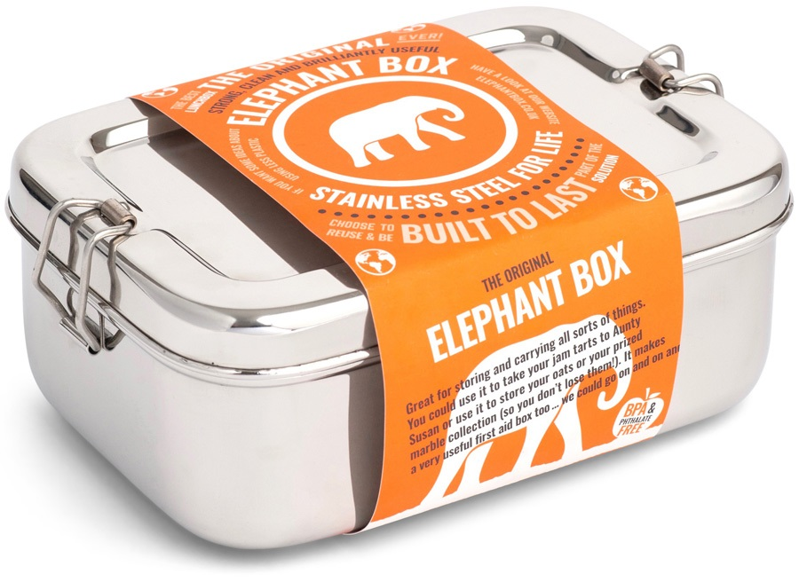 Elephant Box Original Elephant Box Stainless Steel Lunch Box, 2L