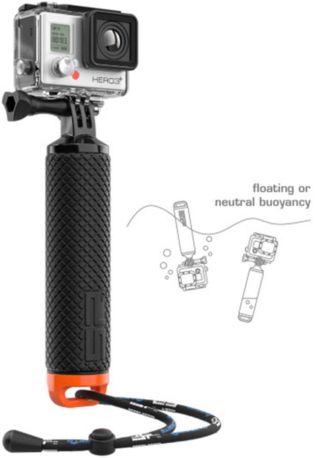 SP POV Dive Buoy Floating GoPro Hand Grip, Black/Orange