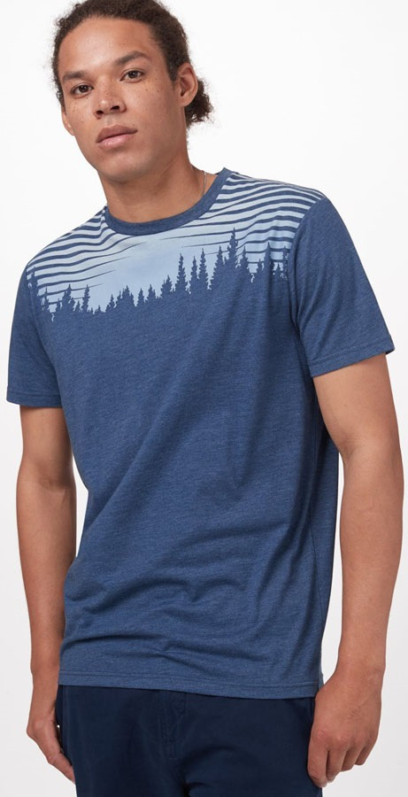 Tentree Sunset Juniper SS T-Shirt, M Dark Ocean Blue Heather