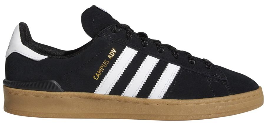 Adidas Campus ADV Men's Trainers Skate Shoes, UK 7 Black/White/Gum